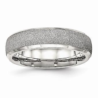 6mm rostfritt stål polerad Laser skär Ring - Ring storlek: 6 – 13