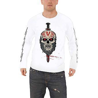 Vikings T Shirt Berserker Logo TV Show nuevo oficial hombres blanco manga larga