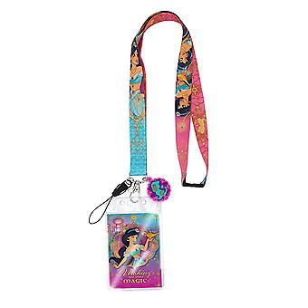 Lanyard - Disney - Aladdin (Pink) w/Soft Touch Dangle New 86214