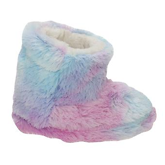 Slumberzzz Kids/Girls Pastel Rainbow Slipper Boots