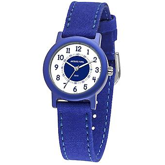 JACQUES FAREL Eco Kids horloge analoge Quartz jongens ORG 800 blauw