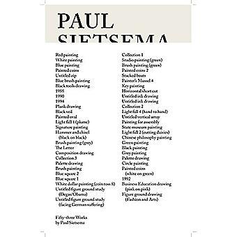 Paul Sietsema - Fifty-Three Works by Paul Sietsema - 9788867492442 Book