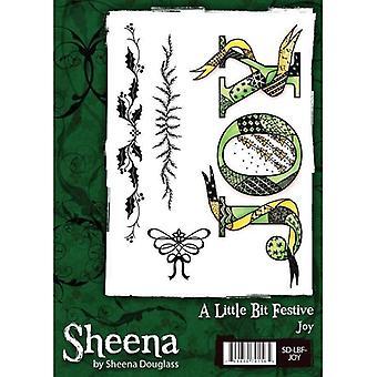 Sheena Douglass A Little Bit Festive A6 Rubber Stamp Set - Joy