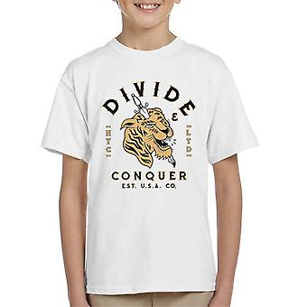 Divide & Conquer NYC Tiger Dagger Kid's T-Shirt