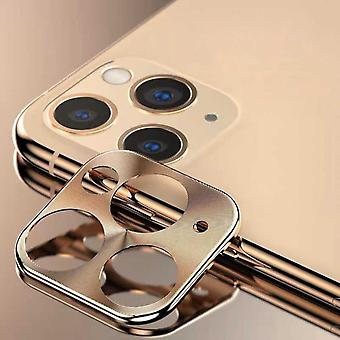 iPhone 11 Pro - 11 Pro Max Fall Gold Kamera Objektiv Schutz - Metall
