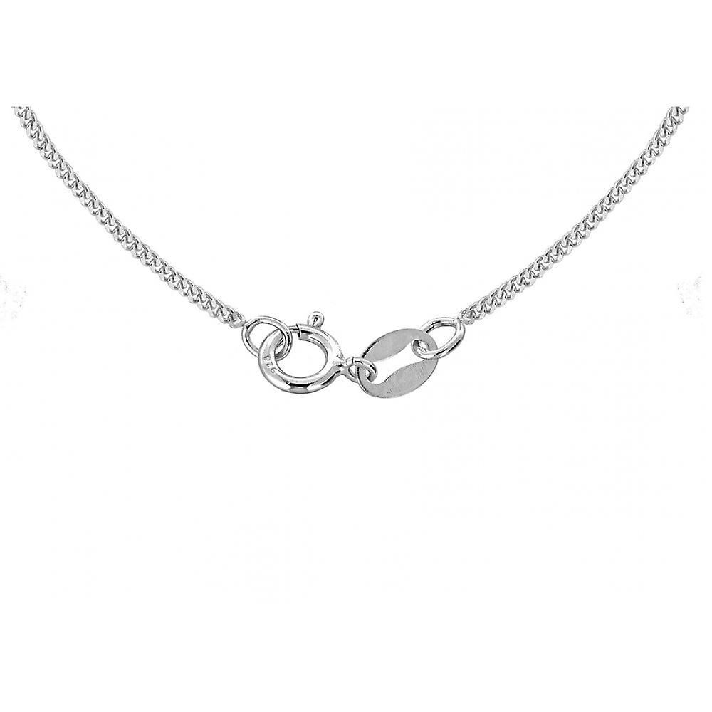 Eternity Sterling Silver Round Pearl And Cubic Zirconia Halo Pendant And 18'' Chain