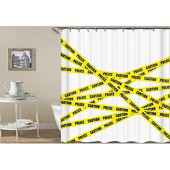 Police Yellow Tape Shower Curtain