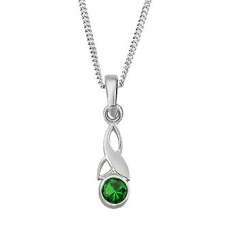 Celtic Holy Trinity Knot Birthstone Necklace Pendant - Peridot Stone - Includes A 18