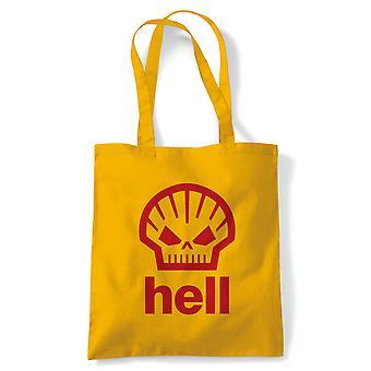 Hell Eco melding som bæres av Heath Ledger tote | Truede arter forurensning Global Warming Ocean | Gjenbrukbare shopping Cotton Canvas Long håndtert Natural shopper miljøvennlig mote