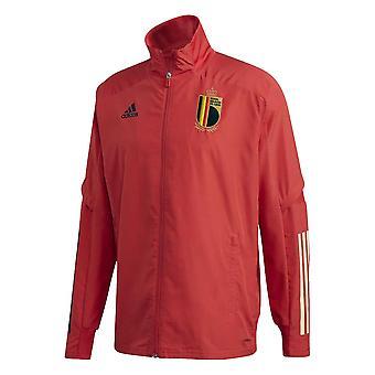 2020-2021 Belgia Adidas esitys takki (punainen)