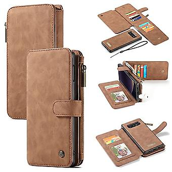 Galaxy S10th Brown Multifunction Wallet - Caseme
