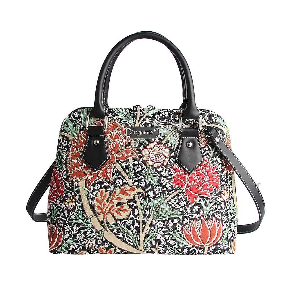 William morris - the cray top-handle shoulder bag by signare tapestry / conv-cray