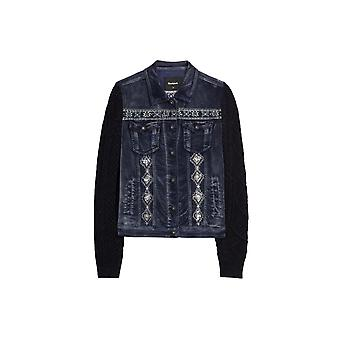 Veste de cordon en tricot argenté pour femme Desigual