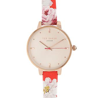 Ted Baker Womens Rose Gold Strap Watch