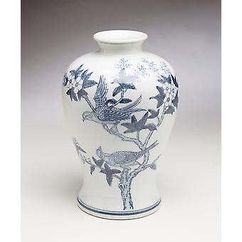 AA Importing 59843 Blue And White Vase