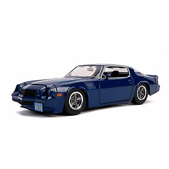 Chevrolet Camaro Diecast Model Car with Collector Coin from Stranger Things