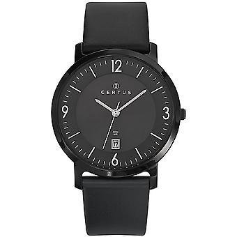 Certus 610959 watch - lederen ronde wijzerplaat man