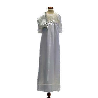 Dopklänning Och Dophätta I Off White, Vit Smal Rosett. Grace Of Sweden