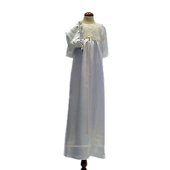Dopklänning Och Dophätta I Off White, Smal Rosett. Grace Of Sweden
