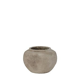 Light & Living Pot Deco 27.5x19cm Vertas Ceramics Cement