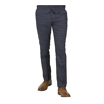 Marc Darcy Jenson Marine Check Suit Trousers