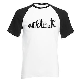 Reality glitch evolution of zombies mens baseball shirt