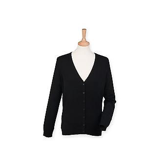 Henbury women's v neck cardigan hb726