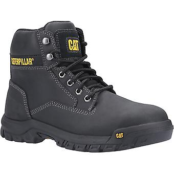 Caterpillar Mens Median S3 Lace Up Leather Safety Boots