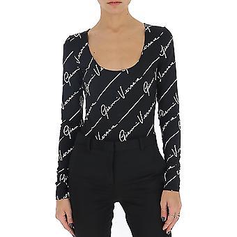 Versace A85614a233277a7008 Women's Black Nylon Bodysuit