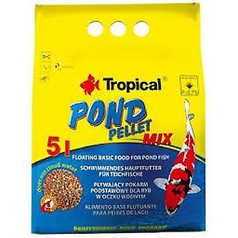 Tropical Vijver Pellet Mix Zak 5 L/650 Gr (Vissen , Visvoer , Koud water)