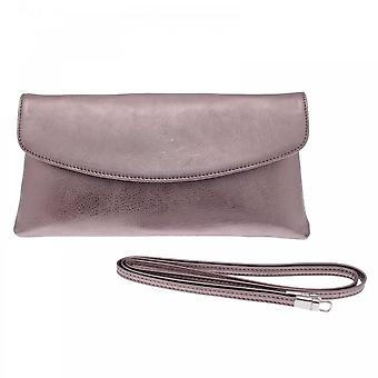 Peter Kaiser Pewter Winema Fold Over Clutch