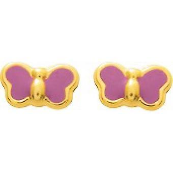 Ohrringe Gold Gold Gold 375/1000 gelb original Form Farbe e Schraube (9K)