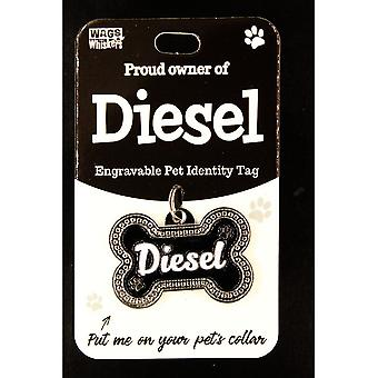 Wags & Whiskers Pet Identity Tag - Diesel