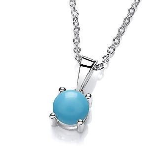 David Deyong Sterling Silver Created Turquoise Necklace December Birthstone
