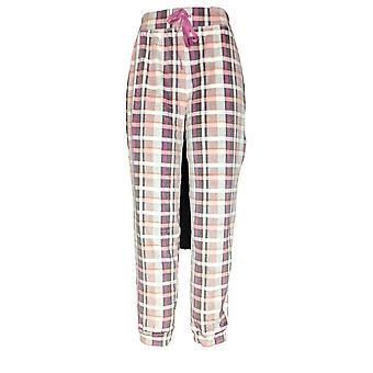 Cuddl Duds Women's Pajama Pants Plush Velvet Fleece Jogger Pink A369296