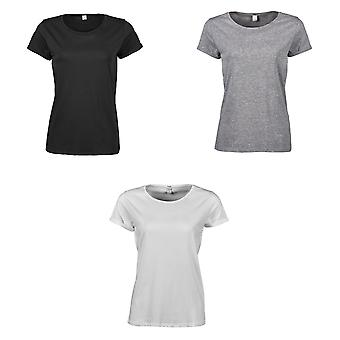 T-Shirt en coton manches tee Jays Womens/dames Roll