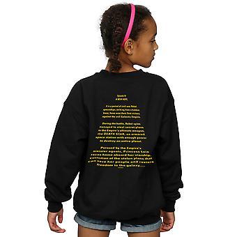 Star Wars Girls A New Hope Opening Crawl Badge Sweatshirt