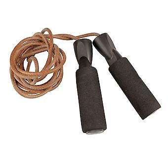 Fitness Mad Leather Weighted Exercise Fitness Boxing Skipping Jump Rope 3m
