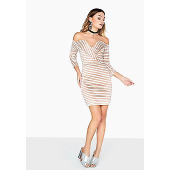 Girls On Film Womens/Ladies Alexander V-Cut Lapel Dress