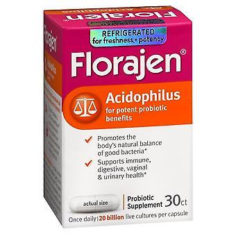Florajen acidophilus probiotic supplement, capsules, 30 ea