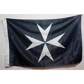Knights maltan vapaamuurarien lippu musta