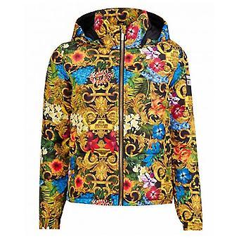 Versace Jeans Couture Jungle Baroque 5d Print Puffer Coat
