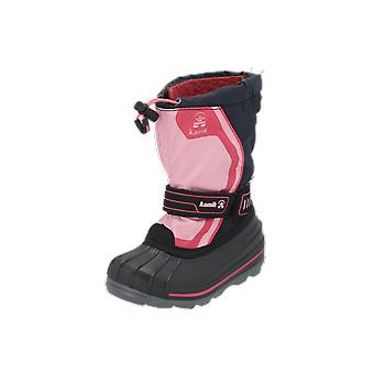 Kamik SNOWCOAST4 Kids Boots Pink Lace-Up Boots Winter