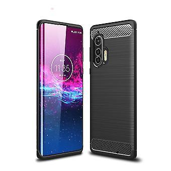 Motorola Edge+ Carbon Fiber Shell - Negro