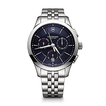 Victorinox Unisex analoge Uhr mit Metall vergoldet Edelstahl 241746