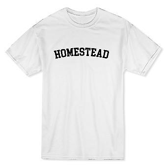 ホームステッド シティ プライド男の白 t シャツを表示します。