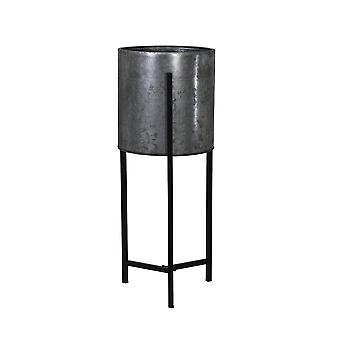 Light & Living Flower Pot Deco On Stand 18x57cm Baksi Zinc-Black