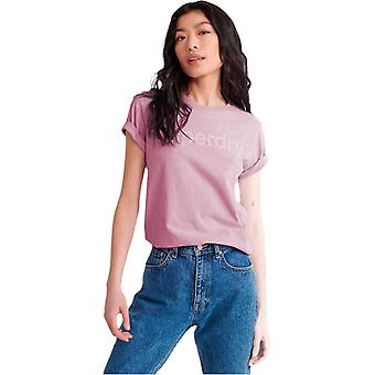 Superdry registriert Flock T-Shirt Rosa 85