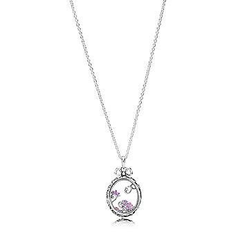PANDORA medaillon van Dazzle ketting - 397716ACZMX-70