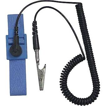 TRU COMPONENTS SD-AS D4 ESD wrist strap Light blue, Black incl. PG cable 3/8 (9.52 mm) stud and socket